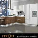 台所家具の贅沢な現代光沢のある食器棚Tivo-0014V