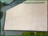 Madera contrachapada con E0, de Okoume de la cara de la madera del grado de BB/CC pegamento E1