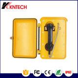 Teléfono Emergency a prueba de mal tiempo directo Knsp-03 del microteléfono del teléfono de dial de la cuerda de la armadura