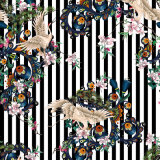 Tissu en soie estampé par Digitals inférieur de la configuration géométrique MOQ pour des vêtements