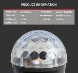 mini RVB DEL lumière magique de disco du DJ d'éclairage de bille de 6*1W