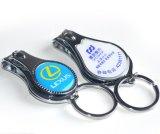 Abrelatas de botella del metal del regalo de la promoción Keyholder con insignia