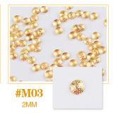 De gouden Zilveren Bijkomende Charme van de Kleefstoffen van de Spijker DIY van de Manicure van de Legering 3D schittert om de Decoratie van de Kunst van de Spijker van de Nagels van de Steen