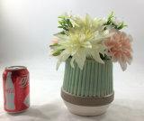 Decoración de cerámica elegante del público de las flores artificiales