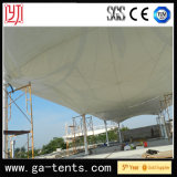 Garantía al aire libre 10years de la cubierta del acero PVDF de la tienda Q235 del toldo de la cortina de la estación de gasolina de la gasolina
