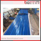Azotea acanalada revestida del metal de hoja de calor de Baoshi del color secundario de la prueba