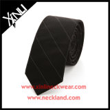 Gravatas de seda pretas Handmade perfeitas do nó 100% Wven