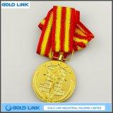 カスタム締縄の金属メダル金メダルの硬貨の学校の紋章