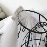 Вуали оптового прозрачного гребня края тесемки длины локтя однослойного Bridal