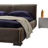 형식 2인용 침대 디자인 현대 침실 가구 직물 침대 (G7002A)