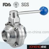 Válvula de bola de acero inoxidable de alta pureza tipo mariposa (JN-BLV2009)