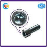 잠그개 탄소 강철 가구를 위한 직류 전기를 통한 6각형 치즈 헤드 나사 또는 적당 또는 장비