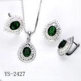 신부 세트 다이아몬드 보석 925의 순은 CZ 세트