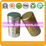 Il tè rotondo dello stagno può per l'imballaggio del carrello di tè, contenitore di stagno