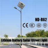 Solarder straßenlaterne20w-140w mit Sonnenkollektor, Controller und Batterie