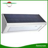 A parede solar ilumina lâmpadas energy-saving impermeáveis ao ar livre da lâmpada do sensor de radar da micrôonda do diodo emissor de luz da liga de alumínio 48 para o jardim