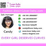 뚱뚱한 여자 L28220-6를 위한 최신 판매 투명한 잠옷 Sleepwear 섹시한 란제리