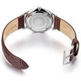Quarzo Watch72589 del fronte nero dell'acciaio inossidabile del cuoio della vigilanza di Mens di modo