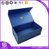 Caixa de presente de papel de empacotamento do cartão magnético feito sob encomenda do fechamento da impressão