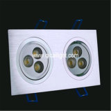 shell LED Downlight de 18X1w White+Black