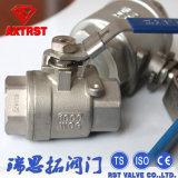 1000wog Ss/Carbon Stahl2pc Typ Kugelventil BSPT/NPT/BSPP/DIN2999
