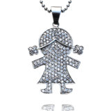 2016 Hot Selling Classian Cute CZ Stone Sterling Stainless Steel Necklace Pendant Necklace