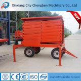 Table élévatrice hydraulique manuelle mobile de ciseaux