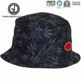 Un buen diseño de la calidad del algodón de cubo sombreros con Ocean Fish Impresión