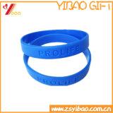 Il silicone molle Wrisband di modo su ordinazione mette in mostra il braccialetto (YB-LY-WR-01)
