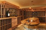 O estilo elegante do vintage personaliza a adega de vinho de madeira para a mobília Home