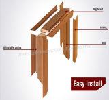 Porte en bois en verre de PVC de forces de défense principale