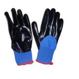 Перчатка работы безопасности перчаток нитрила перчаток NBR окунутая половиной