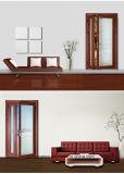 Дверь комнаты дома твердой древесины конструкции HDF нутряная