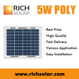 5W 12Vの多結晶性小さい太陽電池パネル