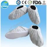No tejido desechable antideslizante cubierta de zapatos, zapatos de la cubierta no tejido antideslizante