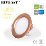 5W 3.5 인치 LED Downlight 스포트라이트 램프 SMD Ce&RoHS 통합 운전사 황금 3CCT