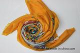 100%のそ毛ウール機械平床式トレーラーの印刷されたスカーフ(AHY1000645)