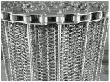 Banda transportadora del acoplamiento de alambre para la galleta, pan, Finsh