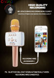 Microfone sem fio Handheld do karaoke de Bluetooth do microfone profissional quente da venda