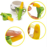 Bébé non-toxique Teether de silicones de forme de maïs de qualité de jouet nouveau-né