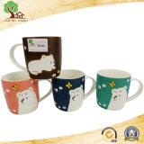 12 Oz New Bone China Ceramic Mug com Cute Animals Pattern