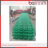 El contellear coloreado decorativo acanalado de acero del material para techos del metal de Baoshi