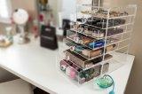 Organizador cosmético de acrílico del maquillaje de la encimera