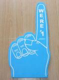 親指指の顧客のロゴの大きい泡手