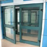 Perfil de aluminio de la capa verde del polvo para la ventana abierta