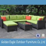 庭のテラスの枝編み細工品/藤のソファーの一定の余暇の椅子