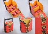 Роскошная коробка торта луны Paperboard с горячим логосом штемпеля/специальными коробками Mooncake конструкции