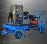 Máquina de alta presión de limpieza de la limpieza de la arandela del camino de alta presión de alta presión impulsado por motor del producto de limpieza de discos