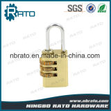 Hohes Sicherheits-Kombination Ractangle 3coded Messingvorhängeschloß