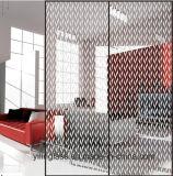 Seide-Scree Drucken-Farben-Tür-Glas mit erneuerten Mustern